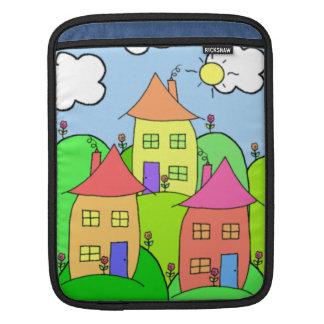 家および丘 iPadスリーブ