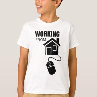 家から働くこと Tシャツ