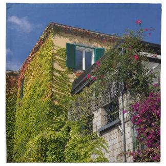 家のカラフルの葉 ナプキンクロス