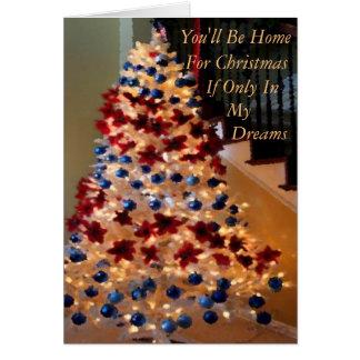 家のクリスマスから軍か遠くに カード
