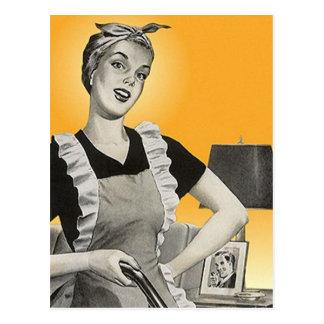 家のクリーニングサービスのための郵便はがきの昇進の広告 ポストカード