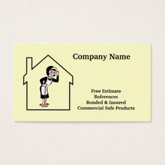 家のクリーニング及び女中のサービス業カード 名刺