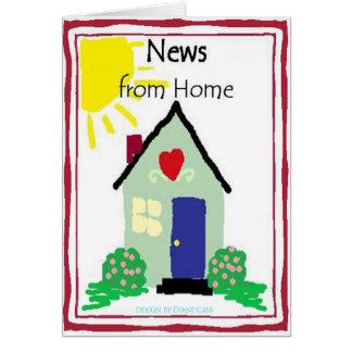 家のブランク挨拶のCardlからのニュース カード