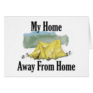 家のメッセージカードから遠くにな家 カード