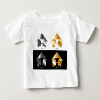 家の中の2つの顔から作成されるつぼの型枠 ベビーTシャツ