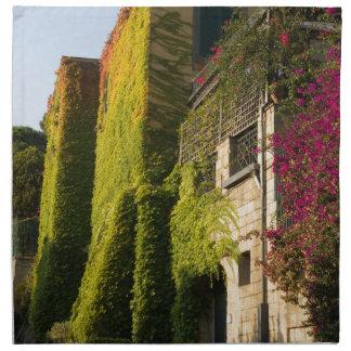家の壁のカラフルの葉 ナプキンクロス