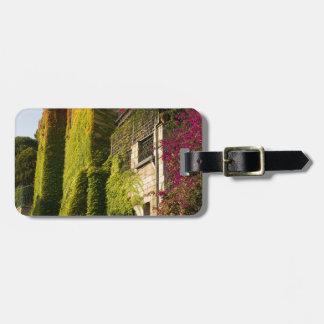 家の壁のカラフルの葉 ラゲッジタグ