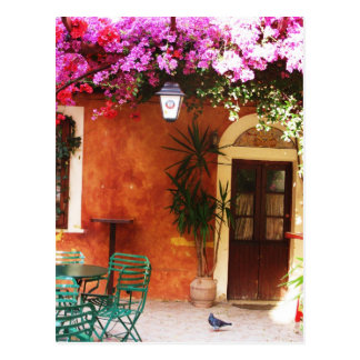 家の外で、Mykonos成長する、ブーゲンビリアGr ポストカード