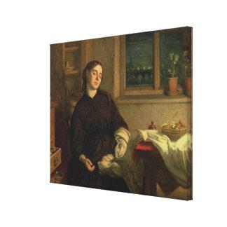 家の夢1869年(窓ガラスで置かれるキャンバスの油 キャンバスプリント