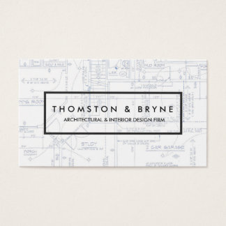 家の建築および建築家の青写真 名刺
