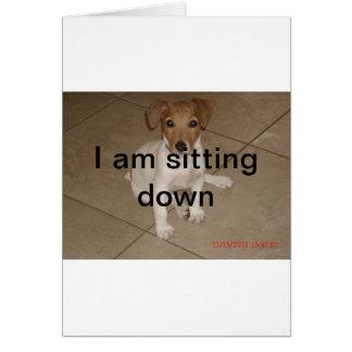 家の新しい子犬 カード