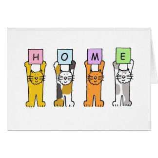 家の漫画猫 グリーティングカード