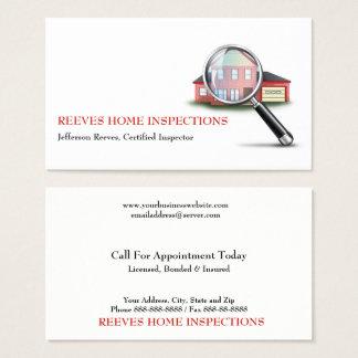 家の点検検査官の名刺 名刺