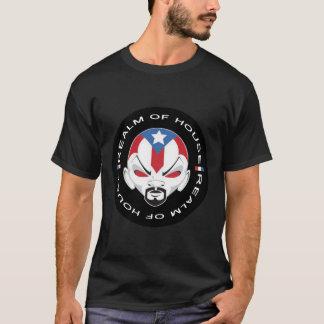 """""""家の王国""""のBoricuaの人のロゴのTシャツのデザイン Tシャツ"""