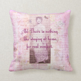 家の甘い家についてのジェーン有名なAustenの引用文 クッション