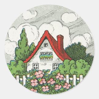 家の甘い家のコテージ ラウンドシール