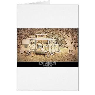 家の甘い家庭のヒッピーのトレーラー カード