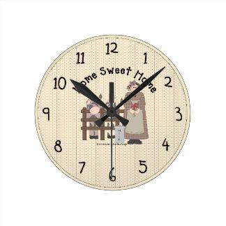 家の甘い故国の柱時計 ラウンド壁時計