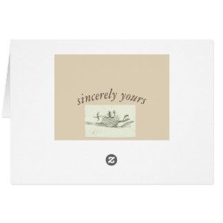 家の甘いhomw グリーティングカード