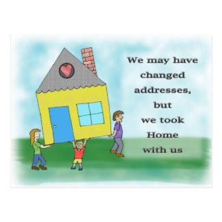家の移動発表 ポストカード
