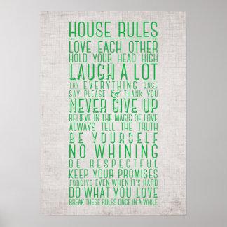 家の規則 ポスター