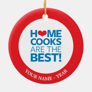家の調理師はベストです セラミックオーナメント