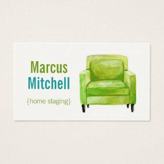 家の足場の名刺-横の-緑 名刺