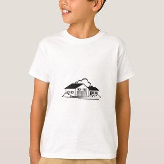 家の輪郭 Tシャツ
