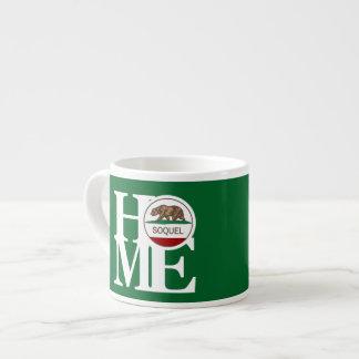 家のSoquelのエスプレッソのマグの緑 エスプレッソカップ