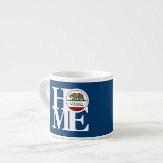 家のSoquelのエスプレッソのマグの青 エスプレッソカップ