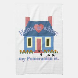 家はポメラニア犬です キッチンタオル