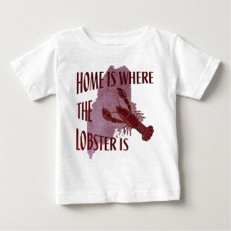 家はロブスターがあるところです ベビーTシャツ