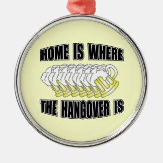 家は残存物があるところです! シルバーカラー丸型オーナメント