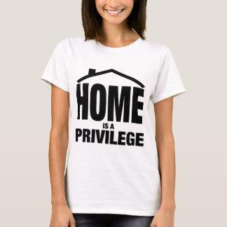 家は特権です Tシャツ