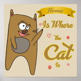 家は猫があるところです ポスター