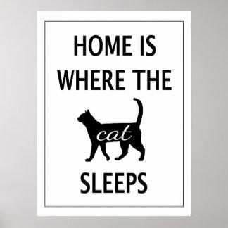 家は猫が眠るところです ポスター