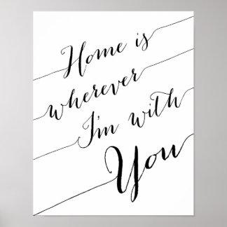 家は私があなたとポスタープリントであるところはどこでもです ポスター