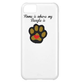 家は私のビーグル犬があるところです iPhone5Cケース