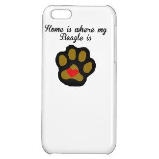 家は私のビーグル犬があるところです iPhone 5C CASE