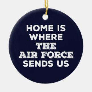 家は空軍が私達にオーナメントを送るところです セラミックオーナメント