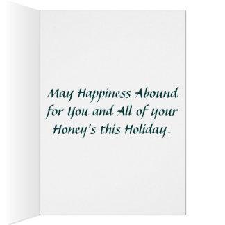 家は蜂蜜がクリスマスカードであるところです カード