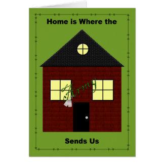 家は軍隊が私達にカードを送るところです カード