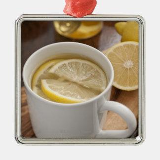 家は風邪およびインフルエンザの治療をしました; レモンおよび蜂蜜 メタルオーナメント