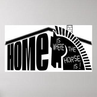 家は馬がポスターであるところです ポスター