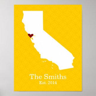 家は-カリフォルニアあなたのハートがあるところです ポスター
