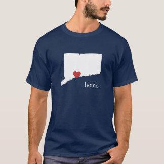 家は-コネチカットハートがあるところです Tシャツ