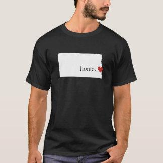 家は-ノースダコタハートがあるところです Tシャツ