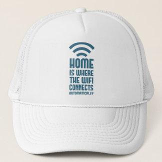 家はWIFIが自動的に接続するところです キャップ