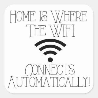 家はWiFiが自動的に接続するところです スクエアシール