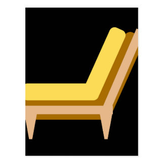 家またはオフィス用家具のソファーの側面図 はがき
